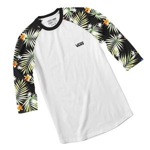 Vans Shirts - Vans Decay Palm Tree Baseball Tee